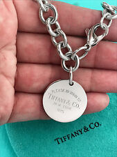 Tiffany & Co Return To Tiffany Argento Sterling ROUND TAG Bracciale 7.5 in (ca. 19.05 cm)