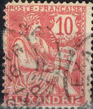 France Office in Alexandria Egypt 1908 classic stamp rare Postmark