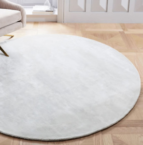 John Lewis & Partners LUCENT Frost Grey Round Rug 183cm - RRP £399