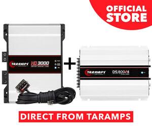 Taramps HD 3000 2 OHMS Amplifier 3000 Watts RMS 1 Channel + DS 800X4 2 OHMS