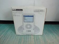 Audio Solutions - Portable Speaker With iPod Dock - New Old Stock