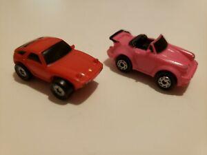 Galoob Micro Machines Porsche 928 red & Porsche 911 convertible Pink