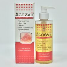 (1) Acnevir Acne Facial Wash & Treatment 6 oz Salicylic Acid Collectible 10/2011