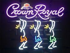 "New Crown Royal Whisky Dancers Bar Pub Neon Sign 17""x14"""