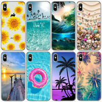 For Iphone 6 6S 7 8 PLUS X Sand Conch Sea Ultra Thin Soft TPU Phone Case Cover