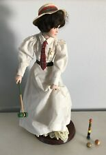 Croquet Doll Norman Rockwell Inspired - with Stand - from Danbury Mint 21""