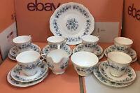 Vintage Colclough Bone China 21 piece Tea Set Braganza Cups, Saucers, Plates