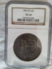 1892-CC NGC VG10 MORGAN DOLLAR