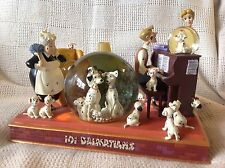 Disney 101 Dalmatians FAMILY TIME Musical Light Up Figurines Snowglobe-MIB