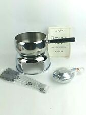 Roshco 2 Quart Stainless Steel Fondue set (Missing- Splatter Shield and Base).