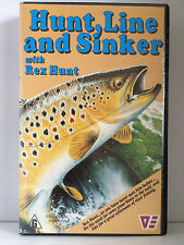 HUNT, LINE and SINKER with REX HUNT ~ RARE AS NEW VHS VIDEO ~ FREE POST