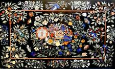 Marble Dining Center Inlay Table Top Handicraft Marquetry Decorative Gift E1677