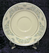 LILING YUNG SHEN FINE CHINA BLUE FLOWER SCROLLING FLORAL SAUCER