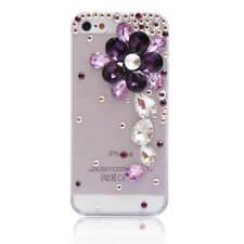 3D Luxury Bling Crystal Diamond flower Rhinestone soft gel Phone Case Cover #A