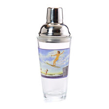 Water Skiing Ski Jump Stainless Steel Cocktail Shaker Home Bar Retro Style New