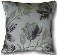 Cushion Covers handmade in Laura Ashley Gosford Plum Purple Fabric Throw Pillows