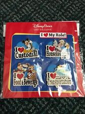 DISNEY PINS MICKEY TINKER CHIP 'N DALE CAST EXCLUSIVE I LOVE MY ROLE PIN SET/LOT