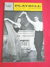 Dec. 10 - 1962 - The St. James Theatre Playbill - Mr. President - Robert Ryan