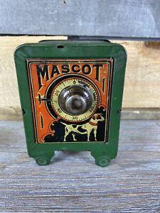 Vintage Mascot Dog Tiny Bank Safe Mini