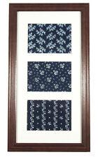 Beautiful Framed Antique Blueprint Textiles from Slovakia indigo ethnic folk art