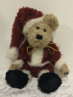 "Boyds NIKI II 2 TEDDY BEAR IN SANTA CLAUS SUIT 7"" Plush STUFFED Toy NEW Jointed"