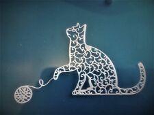 5 x chat avec pelote de laine Carte Toppers, Die cut., Paper Craft, Scrap Book