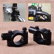 2 x Universal Motorrad Spiegel schelle Halter Spiegelhalter für 22mm Lenker.~
