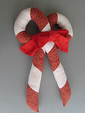 Candy Cane Fabric Red White Handmade Christmas Holiday Decorations Winter