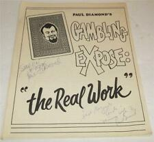 Vintage Paul Diamonds Gambling Expose Lecture Notes Signed