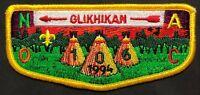 MERGED GLIKHIKAN OA LODGE 106 41 BSA TWO RIVERS COUNCIL IL NOAC 1994 TEEPEE FLAP