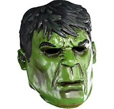 The Incredible Hulk Adult Latex Deluxe Mask Marvel Comics Brand New GREEN
