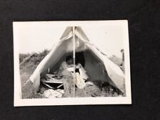 Vintage BW Real Photo #BM: Scout Leader Tent Camping