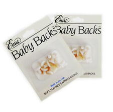 LOT OF TWO - Comfort Rubber Baby Backs Replacement Earring Backs (6 Pair Packs)