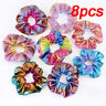8pcs Glitter Shiny Bronzing Elastic Hair Band Ponytail Hair Ring Scrunchies Rope