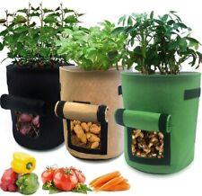 Plant Growing Bags Potato Fruit Vegetable Garden Planter Growing Bag 7/10 Gallon