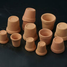 12Pc Dollhouse 1:12 Miniature Flower Handmade Red Clay Pot Garden Home Hot Sale