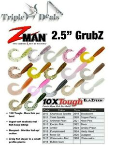 8 Pack of Zman 2.5 Inch Grubz-Z Man Soft Plastics Lures-Choose Colour-Z-Man Lure