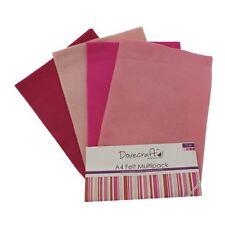 Dovecraft a4 Art + Craft Feltro Colorato 8 FOGLI Shade Confezione Multipla-Rosa