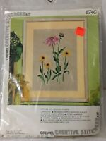 Vintage Fantasy Floral Crewel Embroidery Kit Large Creative Stitchery # 874C USA