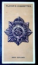 New Zealand Army Service Corps Badge   Original World War 1  Vintage  Card