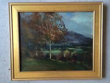 Antique R.M. Shurtleff NA  Oil On Canvas Connecticut Hillside Autumn Early1900's