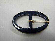 mercerie boucle ceinture confection robe  neuf bleu marine 5.3x3.4cm lot 208