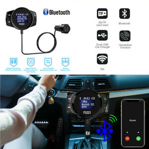 Bluetooth FM Transmitter Car Kit Radio Adapter Super Fast USB Charger MP3 Player