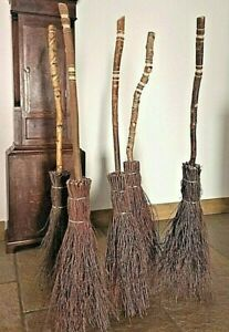 Witches besom Broom, adults sized, created in the UK by Wands & Broomsticks