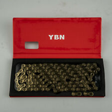 YBN SLA-110 TIG Gold Super Light Bike Chain 11S 116L MTB Road Bike 11 Speed
