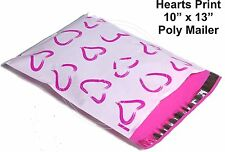 New listing (30) Pink Hearts Print 10 x 13 Poly Mailers Self Sealing Envelopes Bags Designer