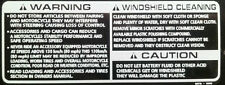 HONDA NC30 VFR400R CBR900RR BLADE SCREEN CLEANING CAUTION RESTORATION DECAL
