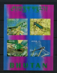 M385 Bhutan 1969 Insectes Coléoptères 3-D Plastique Feuille MNH