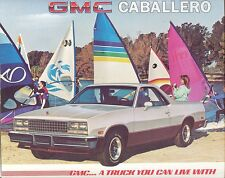 1985 GMC Caballero Brochure - Mint!