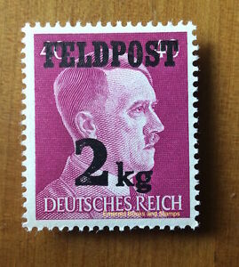 EBS Germany 1944 - 2Kg Hitler Military Parcel Post - Feldpost Michel 3 MNG (*)